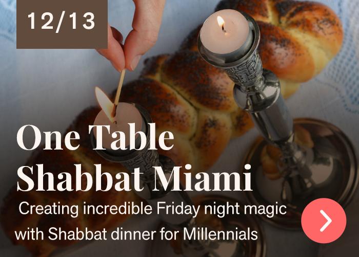 One Table Shabbat Miami